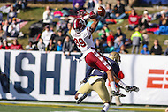Annapolis, MD - December 3, 2016: Temple Owls wide receiver Keith Kirkwood (89) drops a pass during game between Temple and Navy at  Navy-Marine Corps Memorial Stadium in Annapolis, MD.   (Photo by Elliott Brown/Media Images International)