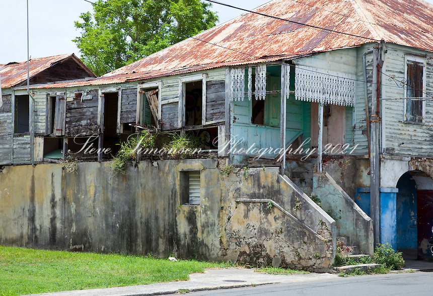 Historic buildings<br /> Fredericksted, St Croix<br /> US Virgin Islands