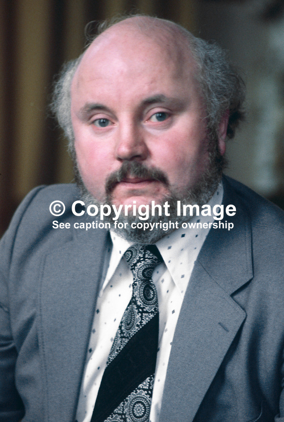 Paddy O'Hanlon, prominent member, SDLP, Social Democratic &amp; Labour Party, N Ireland, UK, 197811000290b.<br />