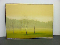 Artist:<br /> In House Rentals: Contemporary<br /> Reference #<br /> 1321_148dp<br /> Title: Trees in The Mist<br /> Preston: <br /> Framed Dims.<br /> 33&quot; x 43&quot; <br /> Framel Silver Leaf Float<br /> Medium<br /> Digital Print <br /> Price<br /> Available upon request