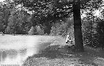 Highland Park:  Sarah and Brady Stewart visiting Highland Park and Lake Carnegie in 1912. During this time, Brady Stewart lived 5801 Wellesley Avenue in Highland Park not far from the park entrance.