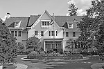 Hempstead, New York, USA. August 7, 2016. Hofstra Hall is a traditional white building in the Florence and Robert Kaufman Plaza in the South Campus of Hofstra University.