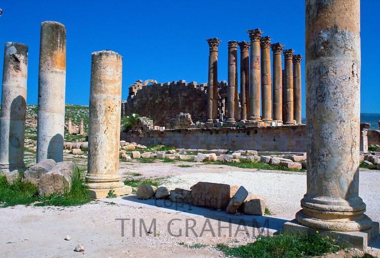 Roman ruin city of Jerash, Jordan
