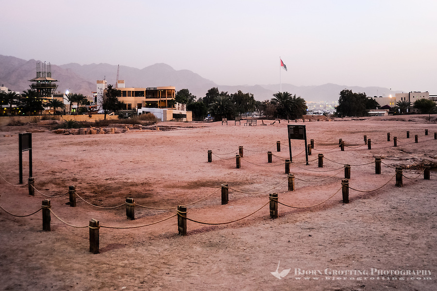 Aqaba is Jordan's only coastal city. Archaeological dig.