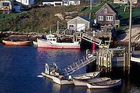 Peggys Cove (Peggy's Cove), NS, Nova Scotia, Canada - Fishing Village and Port on Atlantic Ocean East Coast