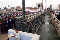 Babylon, Iraq, Feb 15, 2003.Throughout Iraq, large rallies against war followed the Feb. 14th Hans Blix UN report and subsequent speeches by Security Council members at the UN in NY..