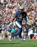 Pitt defensive back Terrish Webb. The Pitt Panthers football team defeated the Virginia Cavaliers 26-19 on Saturday October 10, 2015 at Heinz Field, Pittsburgh, Pennsylvania.