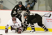 Mark Dube (Army - 15), Austin Mayer (Colgate - 19), John Clark (Army - 5) - The host Colgate University Raiders defeated the Army Black Knights 3-1 in the first Cape Cod Classic on Saturday, October 9, 2010, at the Hyannis Youth and Community Center in Hyannis, MA.
