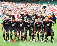 Starting eleven of D.C. United during an MLS match against the Los Angeles Galaxy at RFK Stadium on July 18 2010, in Washington D.C. Galaxy won 2-1.