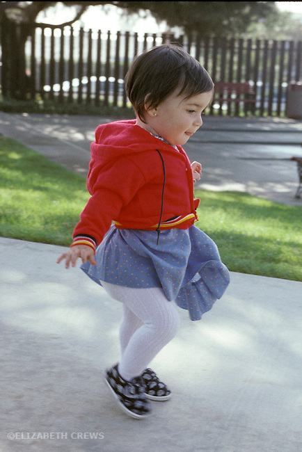 San Diego CA Girl, one-year-old just learning to walk  MR