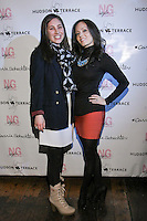 Guest and Pamela Pekerman pose during the EngieStyle one year anniversary, &quot;A Tale of the Black Dress&quot;, fashion presentation.