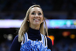 16 December 2015: UNC cheerleader. The University of North Carolina Tar Heels hosted the Tulane University Green Wave at the Dean E. Smith Center in Chapel Hill, North Carolina in a 2015-16 NCAA Division I Men's Basketball game. UNC won the game 96-72.