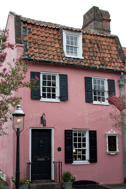 Historic Pink House on Chalmers Street Charleston SC