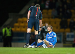 St Johnstone v Aberdeen&hellip;22.04.16  McDiarmid Park, Perth<br />An injured Murray Davidson<br />Picture by Graeme Hart.<br />Copyright Perthshire Picture Agency<br />Tel: 01738 623350  Mobile: 07990 594431