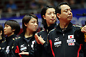 Yasukazu Murakami and team .group (JPN), .MARCH 27, 2012 - Table Tennis : Head coach Yasukazu Murakami of Japan during the LIEBHERR Table Tennis Team World Cup 2012 Championship division group C womens team match between Japan and Germany at Westfalenhalle on March 27, 2012 in Dortmund, Germany. .(Photo by AFLO) [2268]