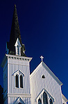 Church at sunset Mendocino Northern California