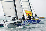 Diam 24 One Design, light, sporty, powerful, winged and designed to race with three or four people on board. The Diam 24OD is fast in light winds and confident in stronger breeze without the necessity for high level sporting prowess. The Diam 24 the new boat for the Tour de France &agrave; la Voile 2015.<br /> Macif, Skipper Fran&ccedil;ois Gabart <br /> Chemin&eacute;s Poujoulat, Skipper Philippe Legros