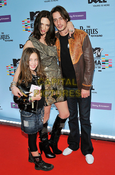 Former husband and wife couple: Michael Civetta and Asia Argento with their child; daughter named Anna Lou
