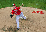 6 September 2014: Washington Nationals pitcher Ross Detwiler on the mound against the Philadelphia Phillies at Nationals Park in Washington, DC. The Nationals fell to the Phillies 3-1 in the second game of their 3-game series. Mandatory Credit: Ed Wolfstein Photo *** RAW (NEF) Image File Available ***