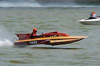 "Carl Wilson, N-72 ""Tiger"", 1974 Lauterbach 266 class hydroplane..2004 Madison Regatta, Madison, Indiana, July 4, 2004..F. Peirce Williams .photography.P.O.Box 455 Eaton, OH 45320.p: 317.358.7326  e: fpwp@mac.com."