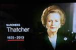 Baroness Thatcher dies London 2013/04/08