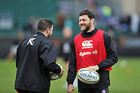 Jeff Williams of Bath Rugby looks on during the pre-match warm-up. Aviva Premiership match, between Bath Rugby and Wasps on February 20, 2016 at the Recreation Ground in Bath, England. Photo by: Patrick Khachfe / Onside Images