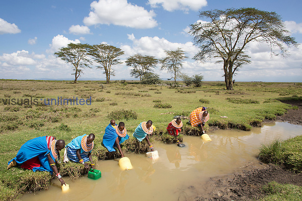 Samburu women fetching water, Kenya