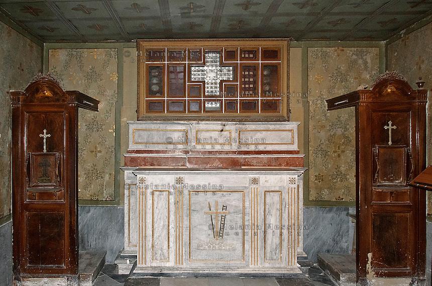 cappella nell'antico santuario di Tindari.<br /> Chapel in the old Tindari sanctuary