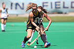 30 August 2014: Iowa's Pommeline Korstanje (BEL) (4). The Wake Forest University Demon Deacons played the University of Iowa Hawkeyes at Francis E. Henry Stadium in Chapel Hill, North Carolina as part of the ACC/Big 10 Challenge and an 2014 NCAA Division I Field Hockey match. Iowa won the game 4-1.