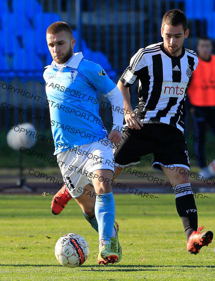Fudbal Jelen Super League season 2015-2016<br /> Spartak v Partizan<br /> Stefan Milosevic (L) and Andrija Zivkovic<br /> Subotica, 29.11.2015.<br /> foto: Srdjan Stevanovic/Starsportphoto&copy;