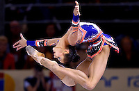 October 20, 2001; Madrid, Spain:  IRINA TCHACHINA of Russia performs with hoop at 2001 World Championships at Madrid.