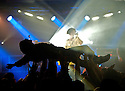 Crowdsurfing at Melt Banana concert during Nightmare Before Christmas ATP curated by Shellac at Camber Sands, UK. 1 december 2012