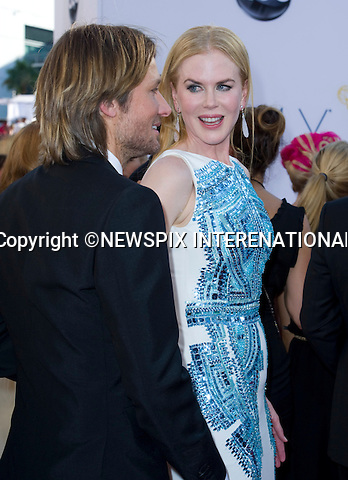 "NICOLE KIDMAN AND KEITH URBAN - 64TH PRIME TIME EMMY AWARDS.Nokia Theatre Live, Los Angelees_23/09/2012.Mandatory Credit Photo: ©Dias/NEWSPIX INTERNATIONAL..**ALL FEES PAYABLE TO: ""NEWSPIX INTERNATIONAL""**..IMMEDIATE CONFIRMATION OF USAGE REQUIRED:.Newspix International, 31 Chinnery Hill, Bishop's Stortford, ENGLAND CM23 3PS.Tel:+441279 324672  ; Fax: +441279656877.Mobile:  07775681153.e-mail: info@newspixinternational.co.uk"