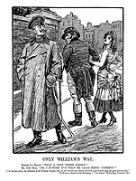 Only William's Way. Madame La France. &quot;What a very uppish person!&quot; Mr John Bull. &quot;Oh, I suppose it's what he calls being 'correct.'&quot;<br />