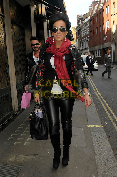 Nancy Dell'olio leaving the Ivy restaurant, London, England.11th April ...