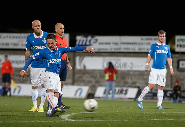 Ian Black scores the second goal for Rangers