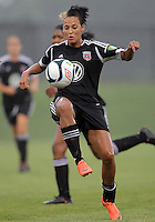 BOYDS, MARYLAND - July 21, 2012:  Lianne Sanderson (10) of DC United Women controls the ball against the Virginia Beach Piranhas during a W League Eastern Conference Championship semi final match at Maryland Soccerplex, in Boyds, Maryland on July 21. DC United Women won 3-0.