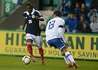 Scotland U21 Islam Feruz controls the ball infront of Italy U21 Mattia De Sciglio