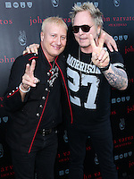 WEST HOLLYWOOD, CA, USA - SEPTEMBER 21: Gregg Bissonette, Matt Sorum arrive at the John Varvatos #PeaceRocks Ringo Starr Private Concert held at the John Varvatos Boutique on September 21, 2014 in West Hollywood, California, United States. (Photo by Xavier Collin/Celebrity Monitor)