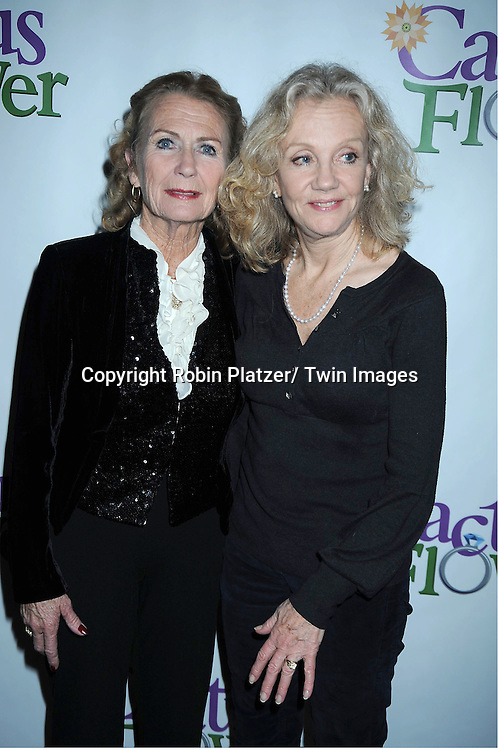 """Juliet Mills and sister Hayley Mills attending the Opening night party for .""""Cactus Flower"""" on March 10, 2011 at B Smith's Restaurant. The show stars Lois Robbins, Maxwell Caulfield and Jenni Barber."""