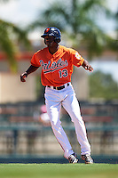 Baltimore Orioles Jaylen Ferguson (13) during an Instructional League game against the Boston Red Sox on September 22, 2016 at the Ed Smith Stadium in Sarasota, Florida.  (Mike Janes/Four Seam Images)