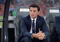 FUSSBALL   INTERNATIONAL   UEFA EUROPA LEAGUE   SAISON 2013/2014    Qualifikation Grasshopper Club Zuerich - AC Florenz      22.08.2013 Trainer Vincenzo Montella (AC Florenz)
