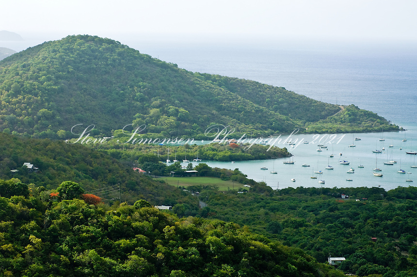Coral Bay from overlook, St. John, USVI
