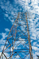 Power transmission lines, Electric power transmission, high voltage electric transmission, Vertical