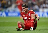 FUSSBALL   CHAMPIONS LEAGUE SAISON 2011/2012  HALBFINALE  RUECKSPIEL      Real Madrid - FC Bayern Muenchen           25.04.2012 Mario Gomez (FC Bayern Muenchen)  ist enttaeuscht