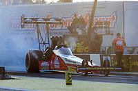 Mar 17, 2017; Gainesville , FL, USA; NHRA top fuel driver Doug Kalitta during qualifying for the Gatornationals at Gainesville Raceway. Mandatory Credit: Mark J. Rebilas-USA TODAY Sports
