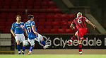 St Johnstone v St Mirren...20.09.11   Scottish Communities League Cup Third Round.Jim Goodwin makes it 2-0.Picture by Graeme Hart..Copyright Perthshire Picture Agency.Tel: 01738 623350  Mobile: 07990 594431
