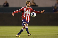 CD Chivas USA midfielder Blair Gavin (18) moves with the ball. The Philadelphia Union and CD Chivas USA played to 1-1 draw at Home Depot Center stadium in Carson, California on Saturday evening July 3, 2010..