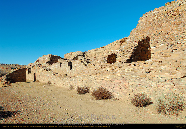 Colonnade Wall, Chetro Ketl Chacoan Great House, Anasazi Hisatsinom Ancestral Pueblo Site, Chaco Culture National Historical Park, Chaco Canyon, Nageezi, New Mexico