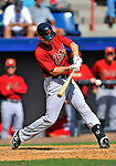 4 March 2012: Houston Astros' infielder Matt Downs in action against the Washington Nationals at Space Coast Stadium in Viera, Florida. The Astros defeated the Nationals 10-2 in Grapefruit League action. Mandatory Credit: Ed Wolfstein Photo